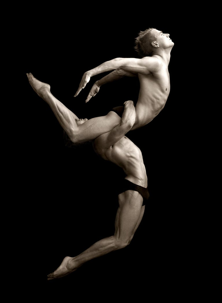 Edition 10  Also available in 40 x 50 cm / 16 x 20 inch, Edition 25  Portrait of two male models dancing.  From personality portraits and advertising campaigns to magazine layouts and fine art work, Greg Gorman has developed a unique style in his