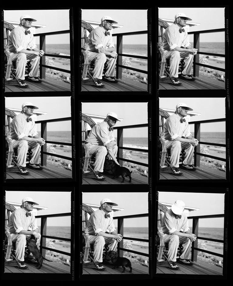 Greg Gorman Black and White Photograph - David Hockney contact sheet, 21st Century, Contemporary, Celebrity, Photography