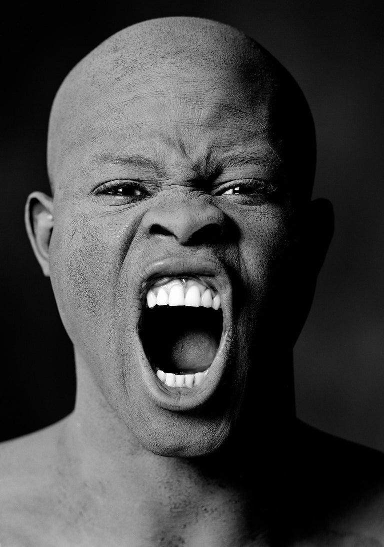 Greg Gorman Black and White Photograph - Djimon Hounsou, Los Angeles, 21st Century, Contemporary, Celebrity, Photography