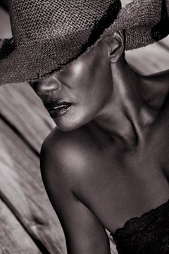 Grace Jones with Cowboy hat, 21st Century, Contemporary, Celebrity, Photography