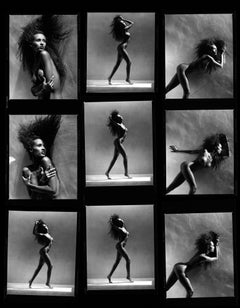Iman Contact sheet, 21st Century, Contemporary, Celebrity, Photography