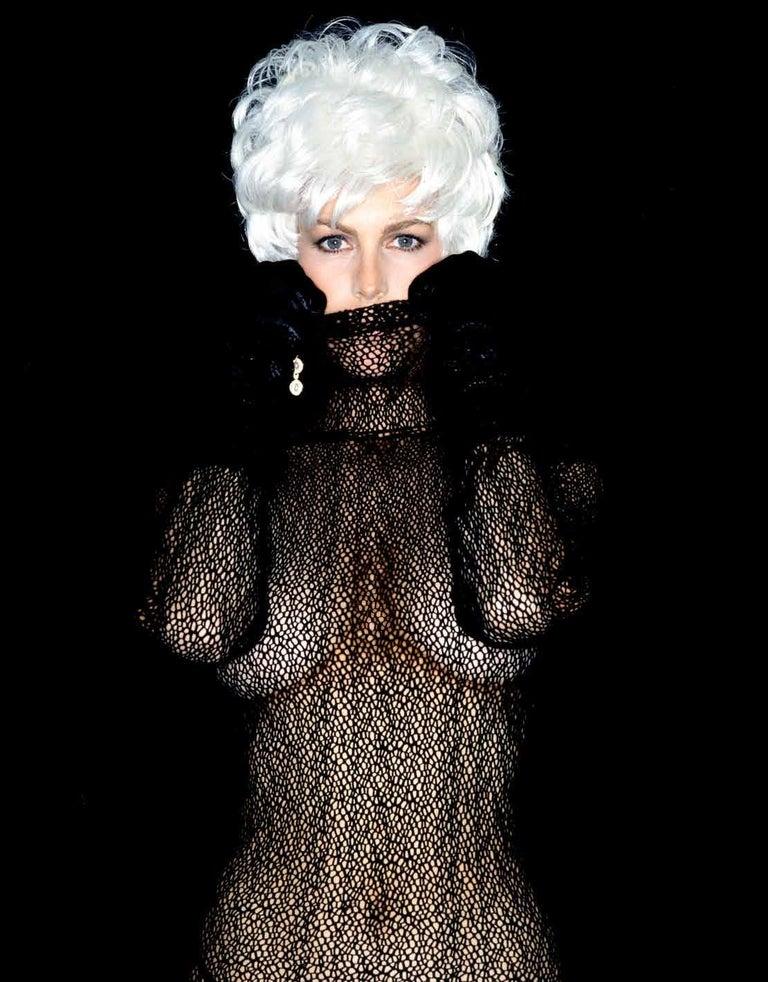 Greg Gorman Black and White Photograph - Jamie Lee Curtis, Contemporary, Celebrity, Photography, Portrait