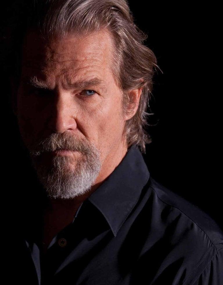 Greg Gorman Portrait Photograph - Jeff Bridges, Contemporary, Celebrity, Photography, Portrait