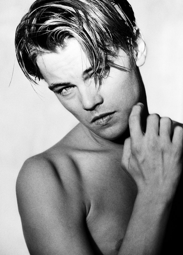 Greg Gorman Black and White Photograph - Leonardo Di Caprio, LA, 21st Century, Contemporary, Celebrity, Photography