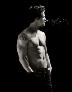 Mark Wahlberg Smoking #1, 21st Century, Contemporary, Celebrity, Photography