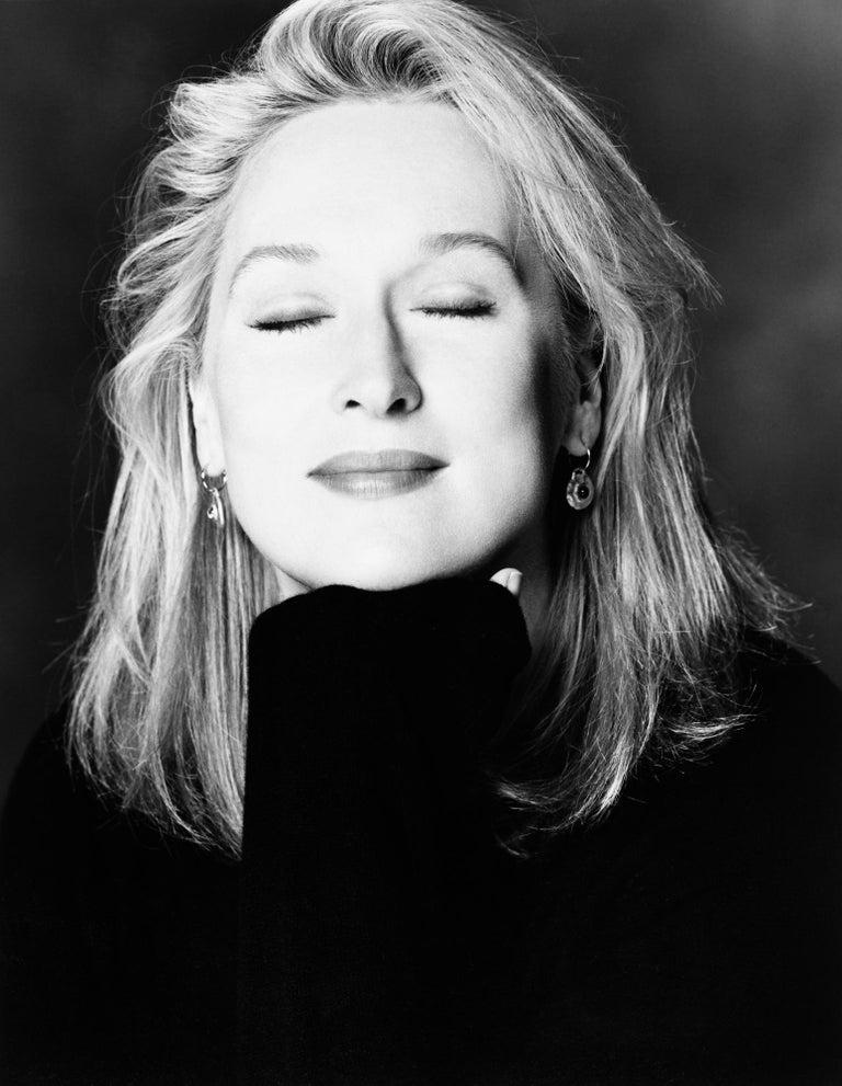 Greg Gorman Black and White Photograph - Meryl Streep, 21st Century, Contemporary, Celebrity, Photography