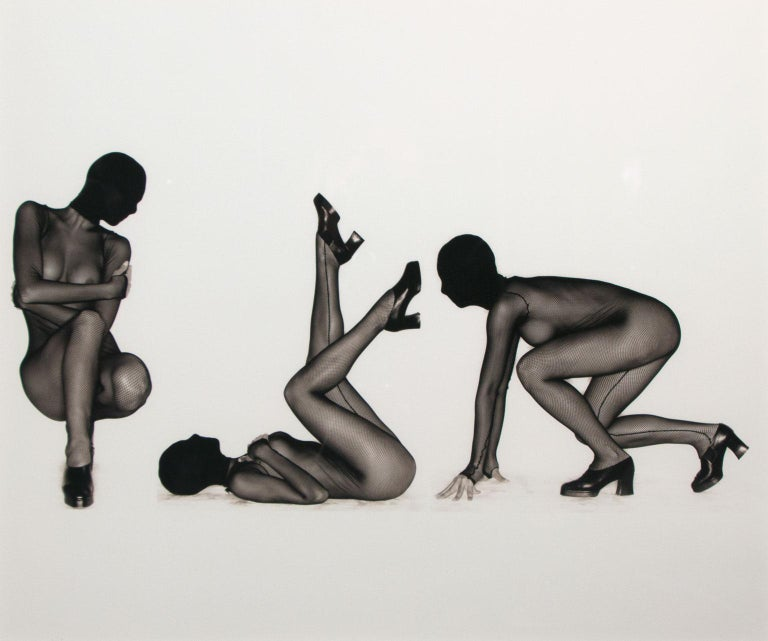 """Nisa Triptych"" Limited Hand-Signed Gelatin Silver Print by Greg Gorman For Sale 1"