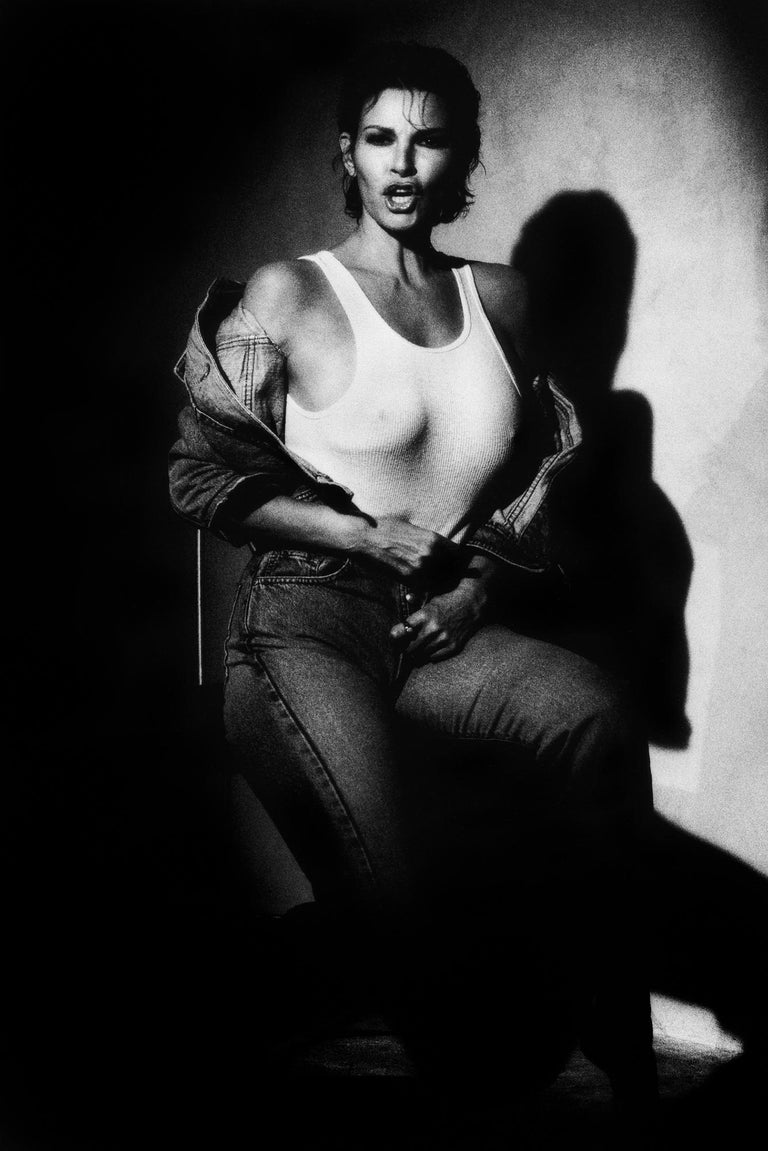 Greg Gorman Black and White Photograph - Raquel Welch, Los Angeles, 21st Century, Contemporary, Celebrity, Photography