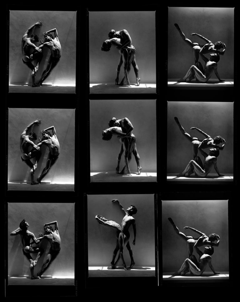 Greg Gorman Black and White Photograph - Rex and Gregory, Contact sheet, Contemporary, Celebrity, Photography