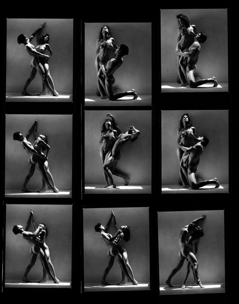 Greg Gorman Black and White Photograph - Tony and Rosetta contact sheet, Contemporary, Celebrity, Photography