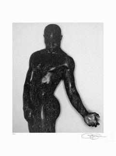 """Greg Gorman-Djimon-31.5"""" x 24""""-Offset Lithograph-1999-Photography-Black & White"""