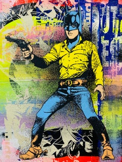 Gotham Cowboy, Greg Gossel Pop Art Comic Street Art Batman Elvis