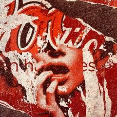 Open Happiness AP, Greg Gossel Pop Art Comic Street Art Female Red Artist Proof
