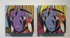 San #7 & #8 Diptych, Greg Gossel Pop Art Comic Japanese Anime Princess Mononoke