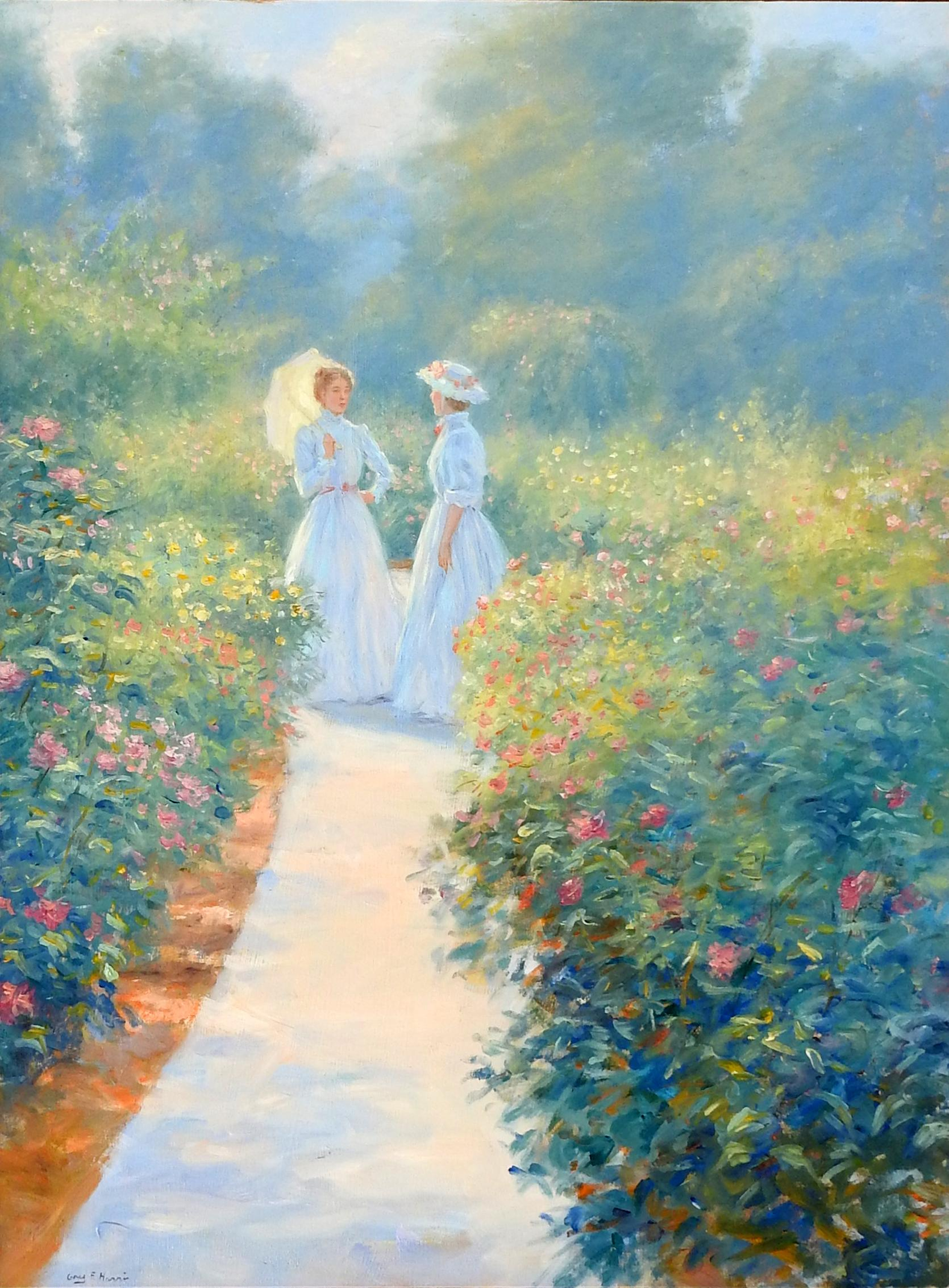 """Good Morning"", Greg Harris, Original Oil, Figurative, Landscape, 40x30 in."