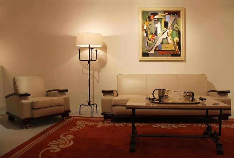 Greg Mathias Cubist Lady in an Interior In Excellent Condition For Sale In Encino, CA