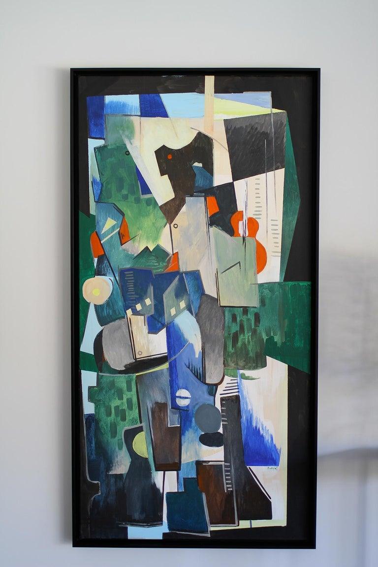 European Greg Mathias Cubist Painting For Sale