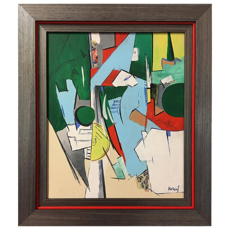Greg Mathias Cubist Painting For Sale