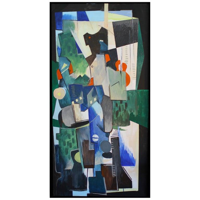 Greg Mathias Cubist Painting For Sale