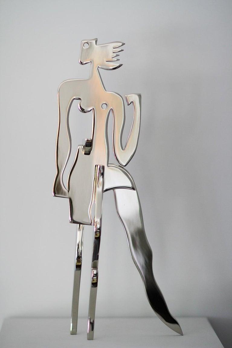 Plated Greg Mathias Original Sculpture, La Parisienne For Sale