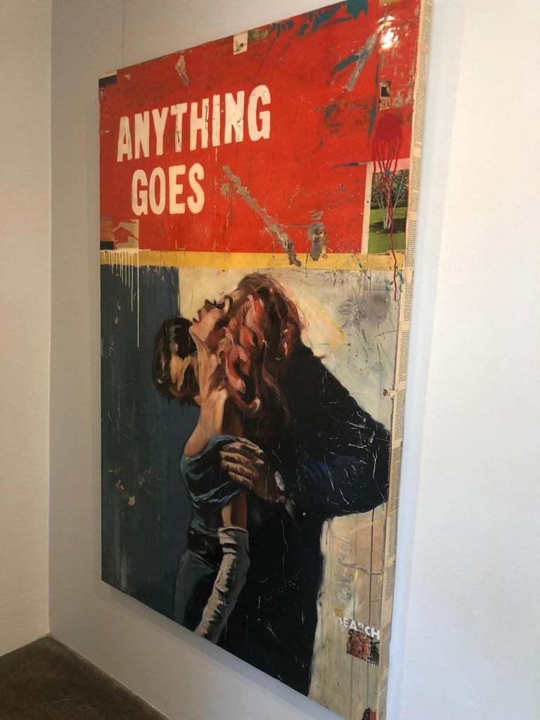 Anything Goes, Greg Miller (Figurative Collage, Text) 1