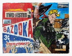 Bazooka_Greg Miller, 2021, Acrylic/Collage/Paper (Text, Pop Art)