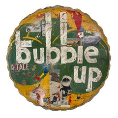 Bubble Up (Bottle Cap)- Greg Miller Circular mixed media