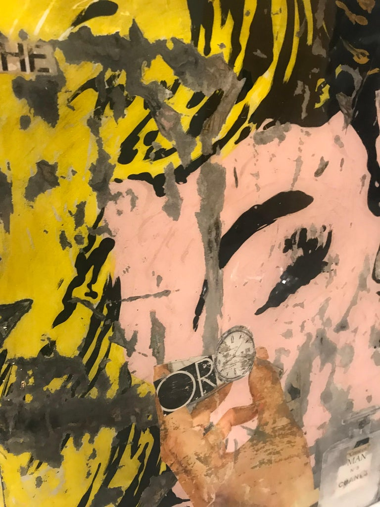 Come On, Greg Miller, Acrylic, Collage, Resin on Panel- Female Figurative-Text - Contemporary Mixed Media Art by Greg Miller