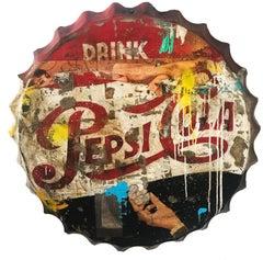 Drink Pepsi, Greg Miller, 2020, Acrylic/Mixed Media/Resin on Metal_Text, Pop Art