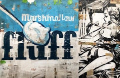 Fluff, Greg Miller, 2020, Acrylic/Mixed Media/Resin on Panel_Text + Figurative