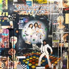 Saturday Night Fever, Greg Miller, 2021, Acrylic/Collage/Varnish- Disco