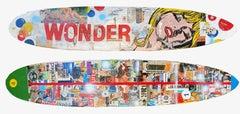Wonder, 2021_Greg Miller_Acrylic/Collage/Resin/Reclaimed Surfboard