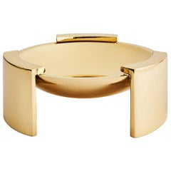 Greg Natale Solid Brass Decorative Trident Bowl