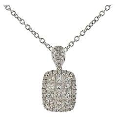 Gregg Ruth 0.84 Carat Diamond Gold Pendant Necklace