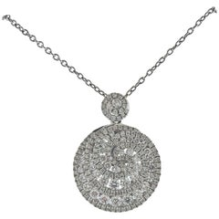 Gregg Ruth 0.94 Carat Diamond Gold Swirl Pendant Necklace