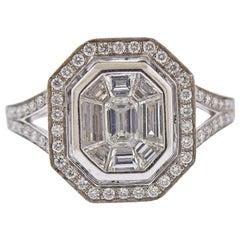 Gregg Ruth 1.20 Carat Diamond Gold Engagement Ring
