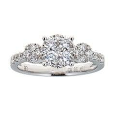Gregg Ruth 18 Karat White Gold and 0.93 Carat Diamond Ring