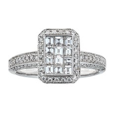 Gregg Ruth 18 Karat White Gold and 1.0 Carat Diamond Ring