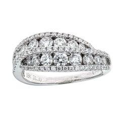 Gregg Ruth 18 Karat White Gold and 1.20 Carat Diamond Ring