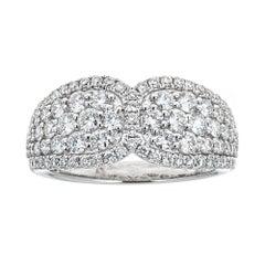 Gregg Ruth 18 Karat White Gold and 1.60 Carat Diamond Ring
