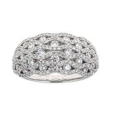 Gregg Ruth 18 Karat White Gold and 1.65 Carat Diamond Ring