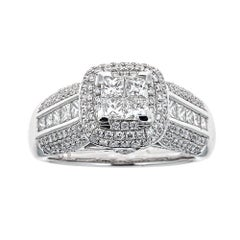 Gregg Ruth 18 Karat White Gold and 1.75 Carat Diamond Ring
