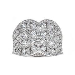 Gregg Ruth 18 Karat White Gold and 2.10 Carat Diamond Ring