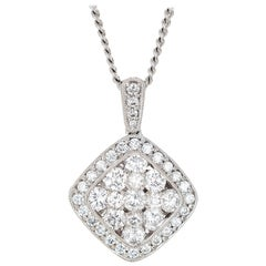 Gregg Ruth 1.81 Carat Diamond Cluster White Gold Pendant Necklace
