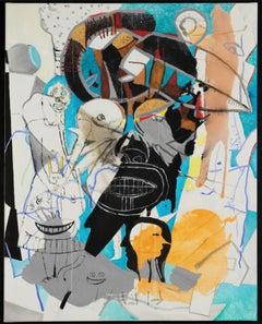 Schneewittchen und Zwergnase, 21st century, modern, abstract, colourful