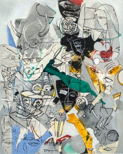 TAROT, der Teufel, 21st century, modern, abstract, colourful