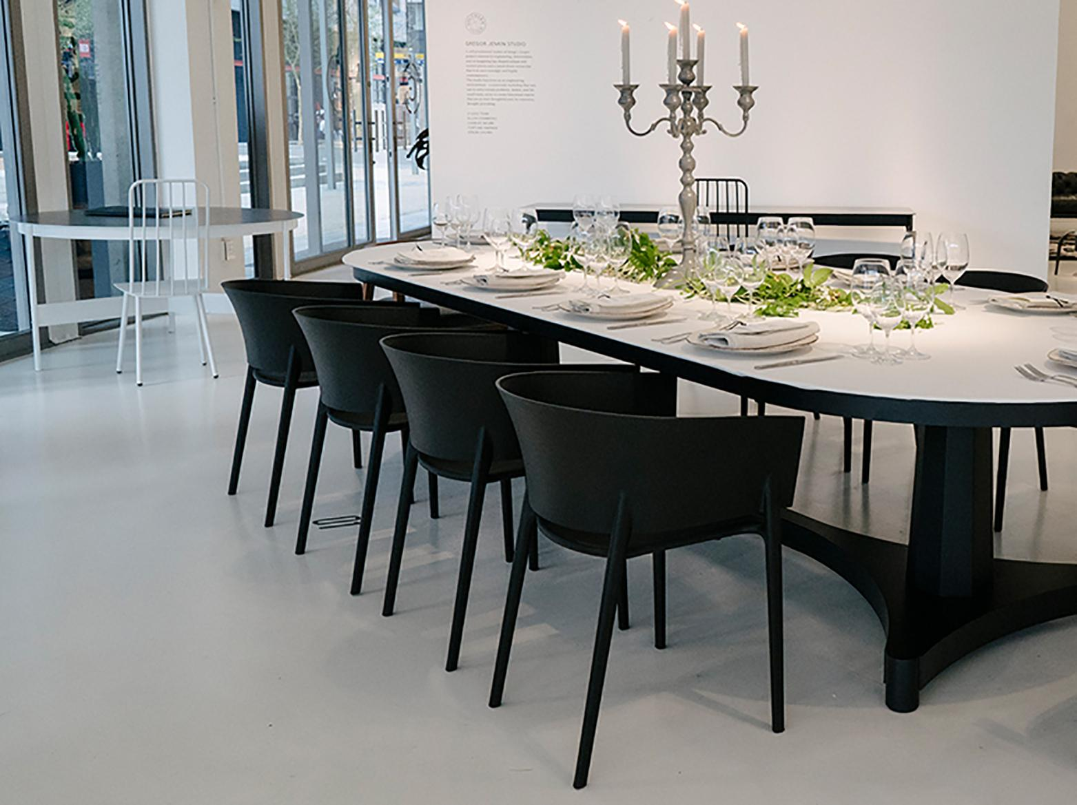 Gregor Jenkin Regent Tablet 12 14 Seat Steel And 3cr12 Dining Table For Sale At 1stdibs