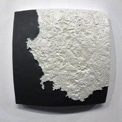 """""""Choke II: Cape of Good Hope (South Africa) II"""" - ceramic - map - black & white"""