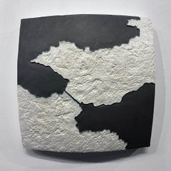 """Choke II: Corinth Isthmus & Canal (Greece)"" - ceramic sculpture - map"