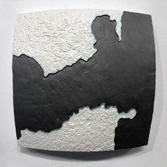 Choke II: Strait of Gibraltar (Spain & Morocco) - ceramic - map - black & white